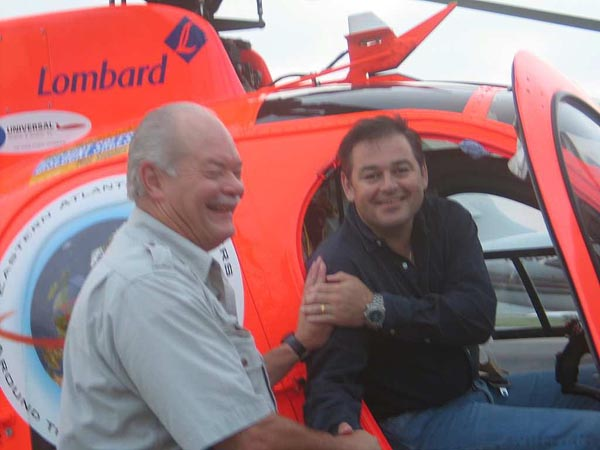 Around the world helicopter flight with Simon oliphant hope