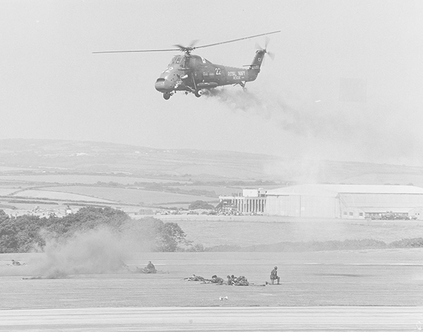Jerry is flying in this photo of a Wessex at a base display day. A marine pulled a smoke grenade in the cabin putting the cockpit into IMC on departure.