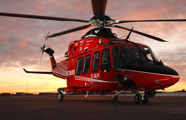 A STARS AW139 helicopter on the ramp. Photo: Calgary Sun