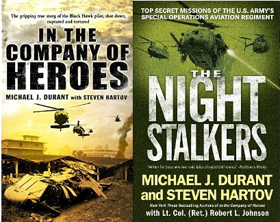Books co-authored by Mike Durant about his experiences and those of the 160th SOAR