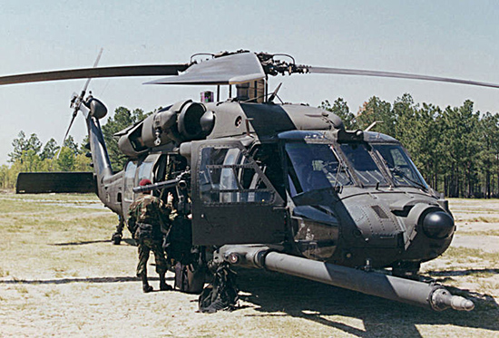 MH-60 of the 160th SOAR with a variety of mission equipment fitted.