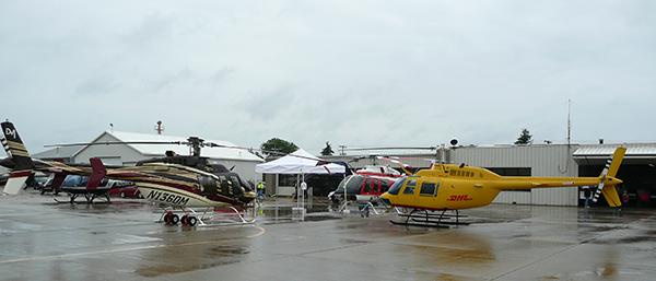 Credit: Bell Aircraft Museum - Display parking at Rotor n' Ribs 2015
