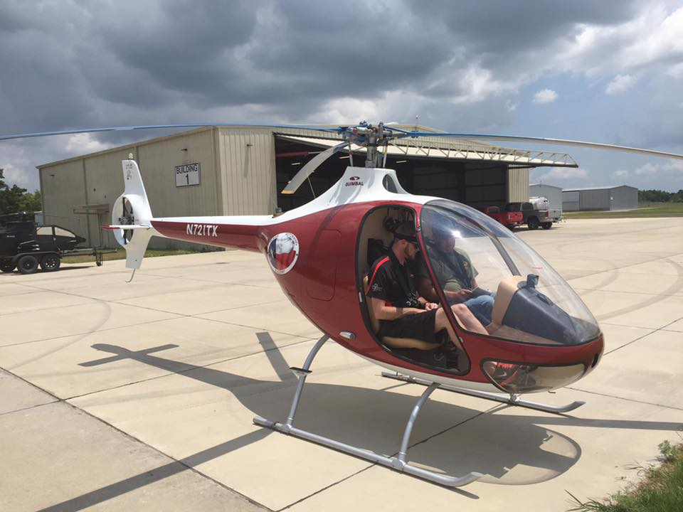cabri on the ramp at texas rotor wing