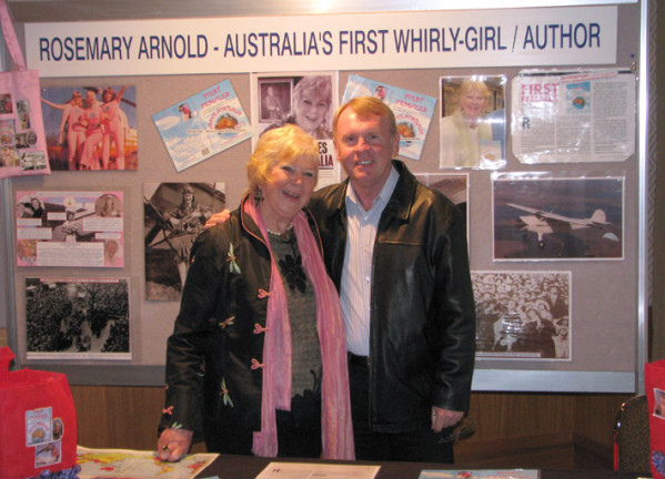 Rosemary Arnold with Australian Astronaut Andy Thomas